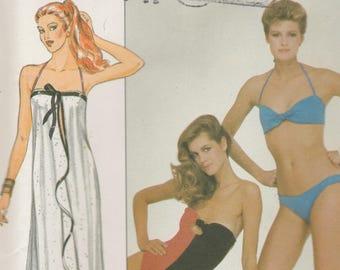 Swimsuit, Bikini & Cover-Up Pattern Butterick 4412 Size 12 Uncut