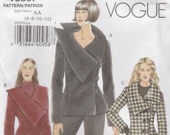 Remarkable Coat and Jacket Pattern Vogue 8307 Sizes 6-12 Uncut