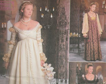 Renaissance Gown Pattern Simplicity 8735/0657 Sizes 10 12 14 Uncut