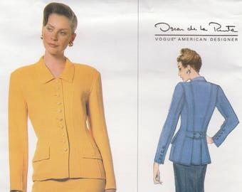 Oscar de la Renta Jacket & Skirt Pattern Vogue 1638 Sizes 8 10 12 Uncut - Rare