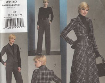 Business Wardrobe Pattern Vogue 1132 Sizes 8 10 12 14 Uncut