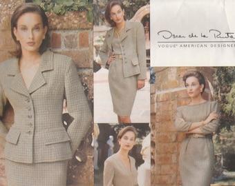 Chic Designer Wardrobe Pattern Vogue 1721 Sizes 6 8 10 Uncut