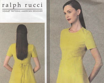Ralph Rucci Designer Dress Pattern Vogue 1404 Sizes 6 8 10 12 14 Uncut