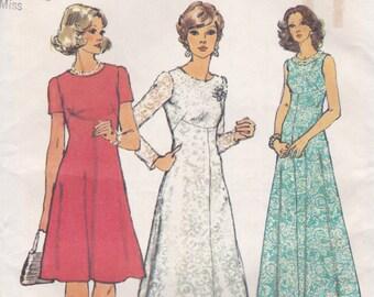 70s Dress Pattern Simplicity 6094 Size 10 Uncut