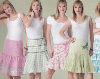 Versatile Tiered Skirt Pattern Simplicity 4674 Sizes 6 8 10 12 Uncut