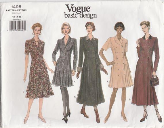 Lovely Princess Seam Dress Pattern Vogue 40 Sizes 40 40 40 Etsy Mesmerizing Princess Seam Dress Pattern