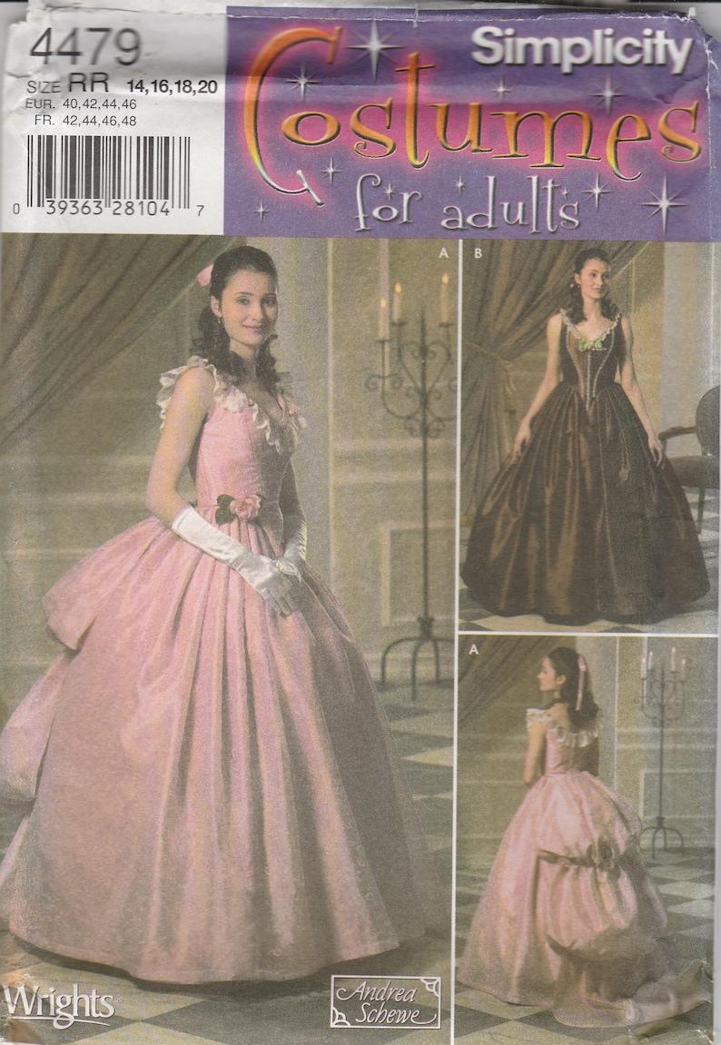 9dd164c93661a Atemberaubende historische Kleid Schnittmuster Simplicity 4479