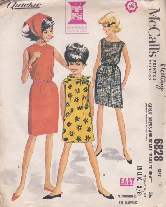 39f0879b1 Girls  Simple Summer Dress Pattern McCalls 6828 Size 10