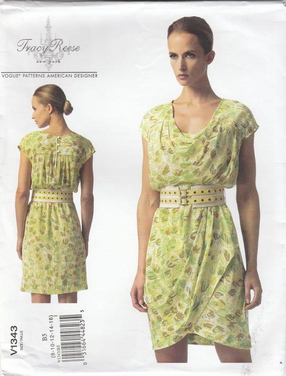 Sweet Summer Dress Pattern Vogue 1343 Sizes 8 10 12 14 16 | Etsy