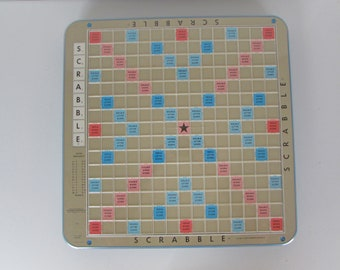 Vintage Deluxe Scrabble Game - Rotating Board Game