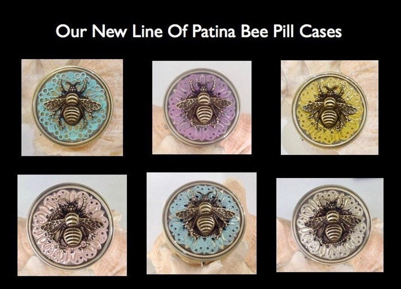 Honeybee,Pill Compartment Pill Cases Large Bumblebee Pill Box Pill boxes Pill Boxes,Travel Pill Case Bee pill case Gift for Mom