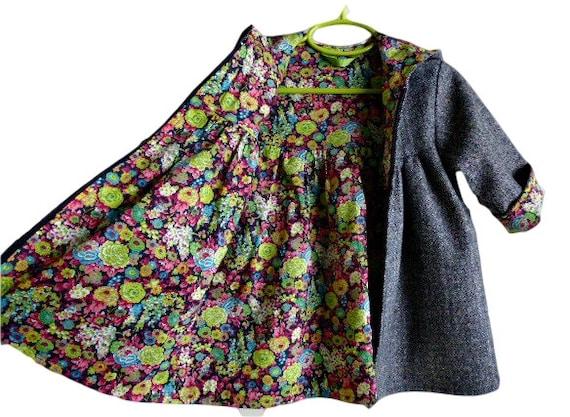 8b5c14f41 Toddler Girls Hooded Winter Swing Coat Custom Design