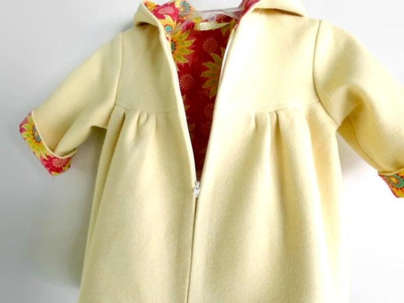 e5b482a0f Toddler Girls Hooded Winter Swing Coat Custom Design