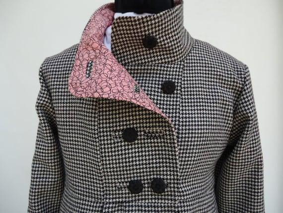 Damen Oberbekleidung Warme Optionale Swing Gefütterter In Oder Tweedjacke Wolle Vollständig Für Winter Mantel Cord Kapuze KF1Jcl