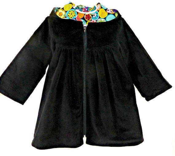 0a30c175484a CLEARANCE Girls Coat Size 4 Dress Jacket Black Corduroy