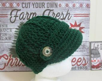 5ec5283f35185 Newsboy knit hat brimmed hat winter cap family sizes