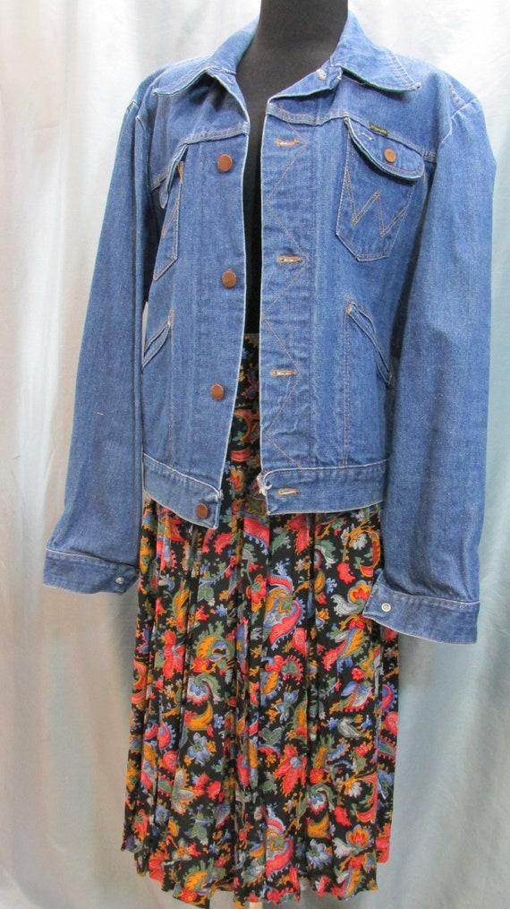 denim Wrangler jean jacket,unisex, Made in USA, si