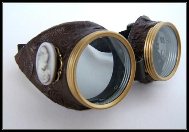 Steampunk goggles vintage siding