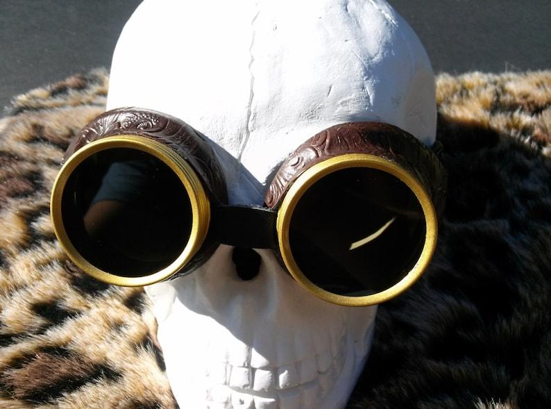 1e2d2c4c71 Steampunk Goggles Dark Lens Steampunk Desert Goggles Bioshock