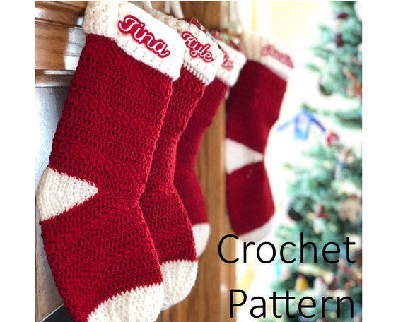 Crochet Stocking Pattern Christmas Stocking Pattern Etsy