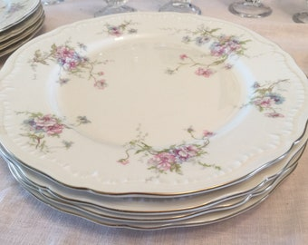 Vintage Theodore Haviland of New York Dinner Plates, Set of 4 (with 2 sets available), Annette Pattern