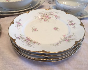 Vintage Warwick Avon Rose Dinner Plates, Set of 4, (with 2 sets available), French Style China Plates