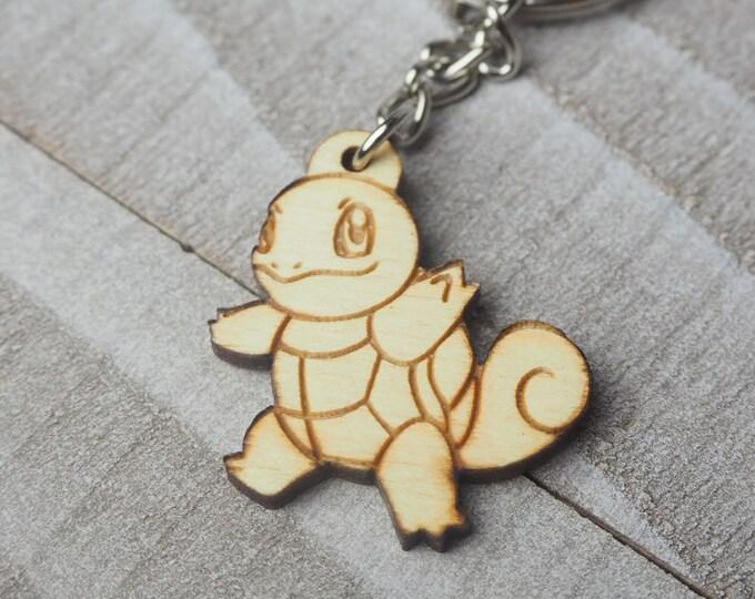 Squirtle Pokemon Keychain | Laser Cut Jewelry | Wood Accessories | Wood Keychain