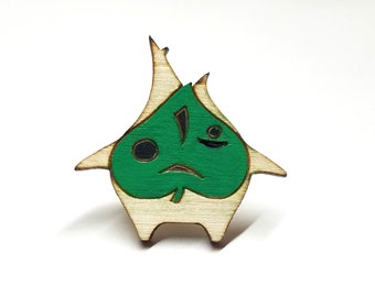 Korok Breath of the Wild Zelda Pin | Laser Cut Jewelry | Handmade Pin | Wood Pin
