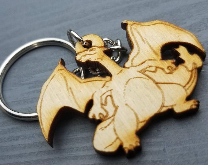 Charizard Pokemon Keychain | Laser Cut Jewelry | Wood Accessories | Pokemon Keychain