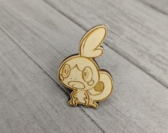 Sobble 8th Generation Pokemon Pin | Laser Cut Jewelry | Wood Accessories