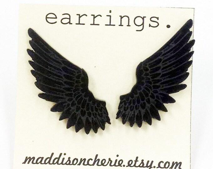 Feathered Wings Earrings | Laser Cut Jewlery | Hypoallergenic Studs