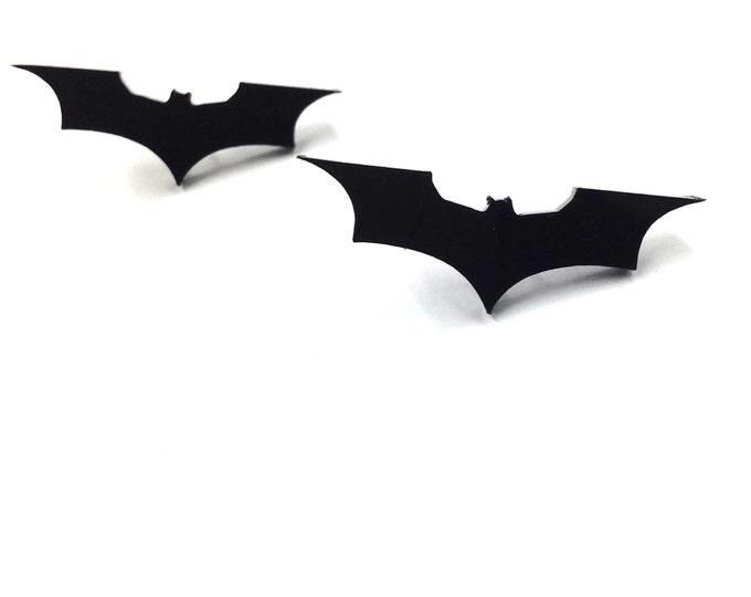 Batarang Batman Earrings |  Laser Cut Jewelry | Hypoallergenic Studs