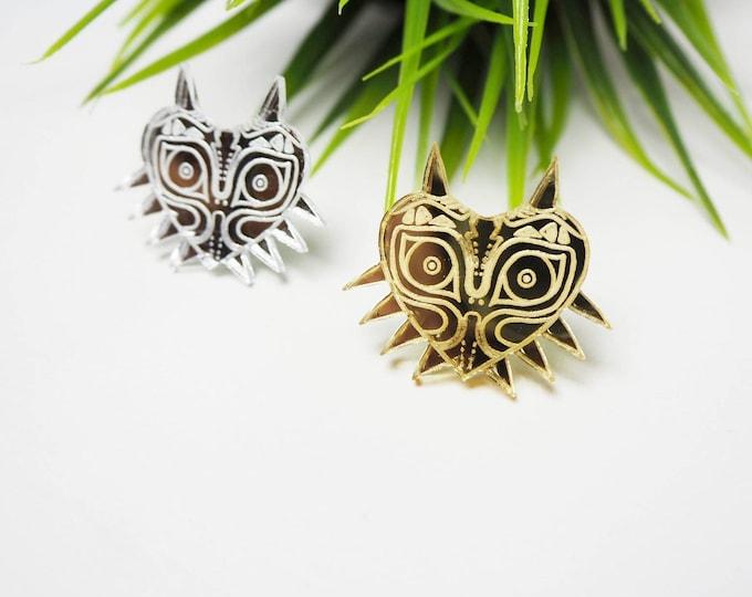 Majora's Mask Pin | Laser Cut Jewelry | Acrylic Accessories | Pin | Handmade |
