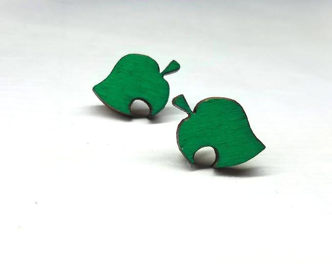 Animal Crossing New Leaf Furniture Symbol Earrings   Laser Cut Jewelry   Hypoallergenic Studs