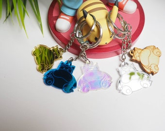 Snorlax Keychain | Laser Cut Jewelry | Pokemon Accessories | Pokemon Keychain