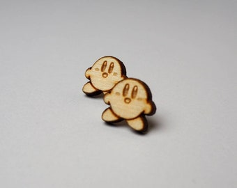 Kirby Wood Earrings | Laser Cut Jewelry | Hypoallergenic Stud Earrings | Wood Earrings