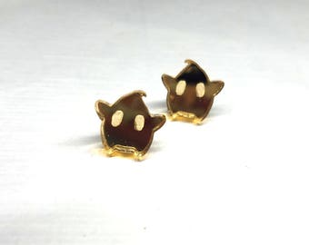 Gold Mirrored Super Mario Galaxy Luma Earrings | Laser Cut Jewelry | Hypoallergenic Studs