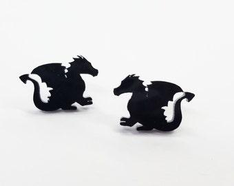 Dragon Earrings | Laser Cut Jewelry | Hypoallergenic Studs | Acrylic Earrings