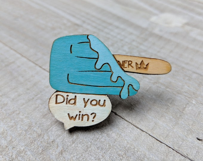 Sea Salt Ice Cream Kingdom Hearts Inspired Pin | Laser Cut Jewelry | Wood Accessories | Wood Pin
