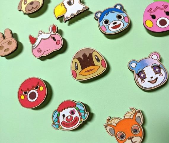 animal crossing new horizons inspired handmade pins Handmade Animal Crossing pins pins with free shipping animal crossing characters