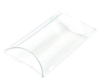 Clear Pillow Box Transparent Pillow Box Baby Shower Gift Box Clear Matte Wedding Favors