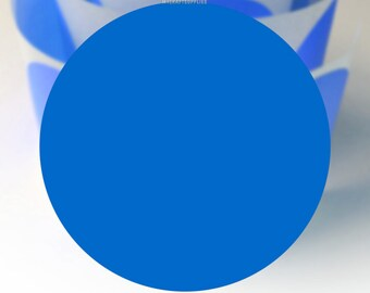 """2"""" Blue Round Stickers/Labels/Dots; 20, 30, 50, 100 2 inch Circles: Stamping, Labeling, Invitations, Decorations, Scrapbooking, Packages ETC"""