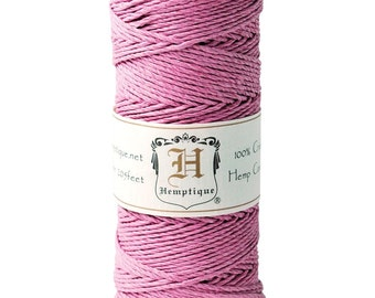 Light Pink or Mauve 20lb Hemp Cord / Twine for Packaging, Jewelry, Etc. 205 Feet - Natural and Eco-Friendly