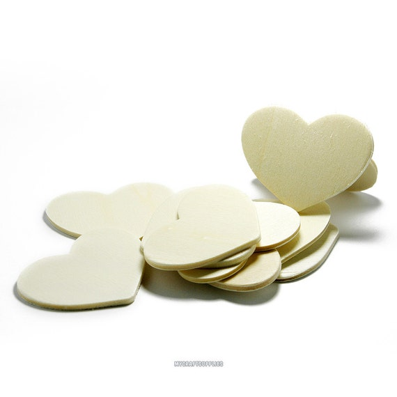 Natural Unfinished Wood Heart Cutout Shape, - Bag of 100 1.5 Inch 1-1//2 Inch Tall x 1//8 Inch Thick Wooden Heart 1-1//2 Wood Hearts
