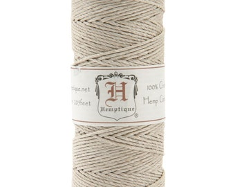 Natural 20lb Hemp Cord / Twine for Packaging, Jewelry, Etc. 205 Feet - Natural and Eco-Friendly