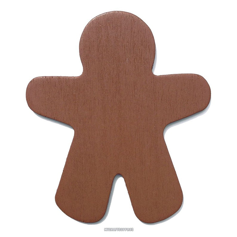 10 Brown Wood Gingerbread Man Cut Outs 3 78 Inch Ready To Embellish For Holiday Crafts