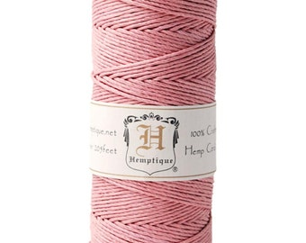 Dusty Pink 20lb Hemp Cord / Twine for Packaging, Jewelry, Etc. 205 Feet - Natural and Eco-Friendly