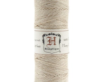 Natural 10lb Hemp Cord / Twine for Packaging, Jewelry, Etc. 205 Feet - Natural and Eco-Friendly