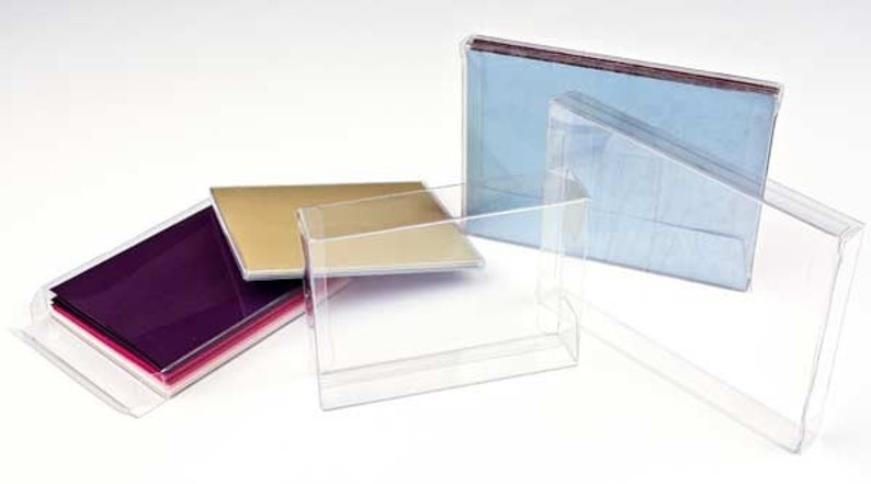 Holds A6 Cards,One Piece Folding Box 25 Clear Greeting Card Boxes 4 78 x 58 x 6 58