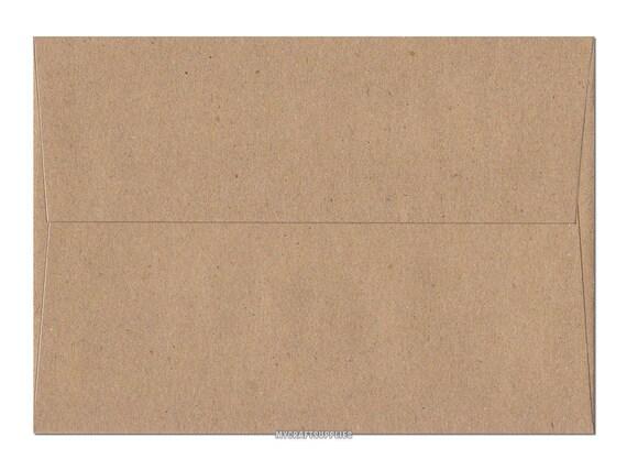 A1 5 1//8 x 4 5//8 Inch Brown Bag Kraft Envelopes Set of 25 for Handmade Cards